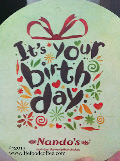 Nandos Birthday Voucher
