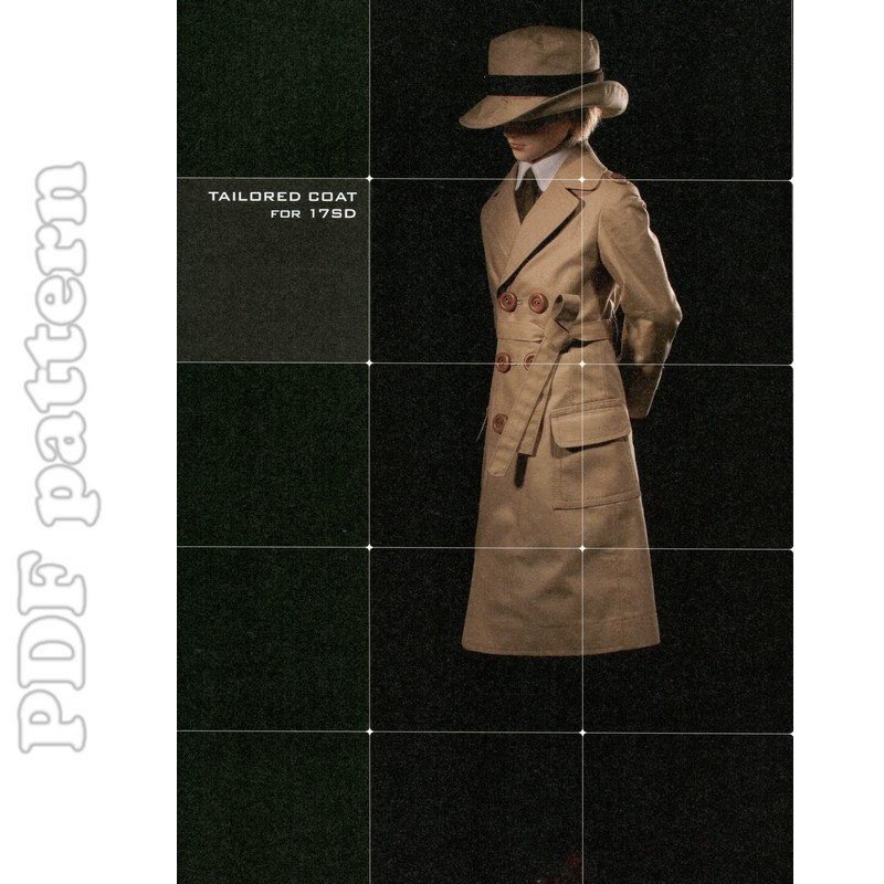 SD Tailored Coat, Pants, Shirt and Tie BJD Pattern PDF | CraftyLine ...