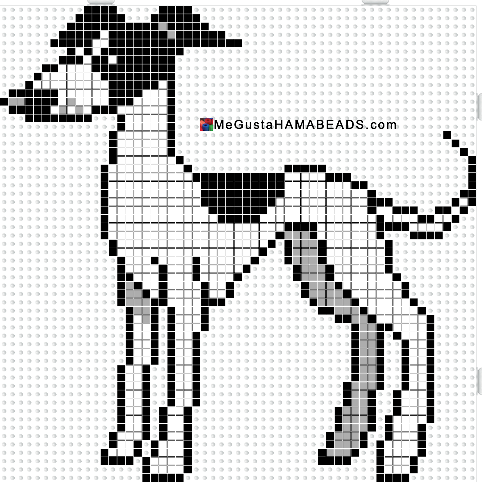 Knitting Pattern For Border Collie Dog : MeGustaHAMABEADS.com: Hama Beads Plantillas Galgo