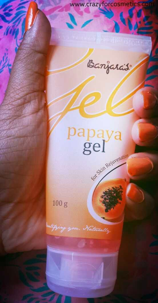 Banjara's Papaya face gel review- Product review- Banjara's Papaya Face gel India- Face Gel Mask India- Face gel products- Herbal face products india- Herbal skincare products india review