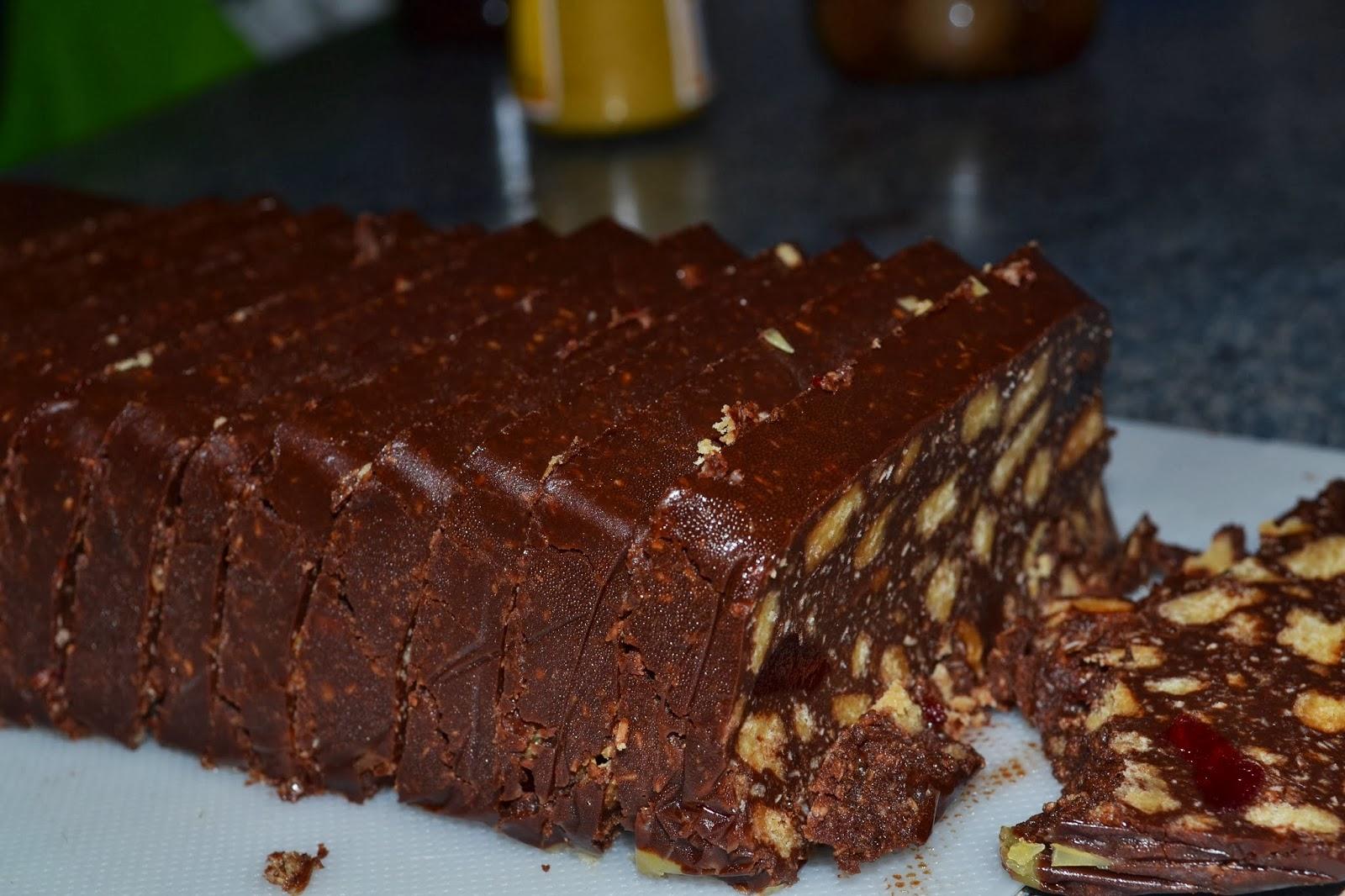 Chocolate log dessert