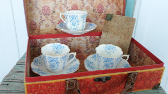 3 Early Country French Tea Cups and Saucer sets