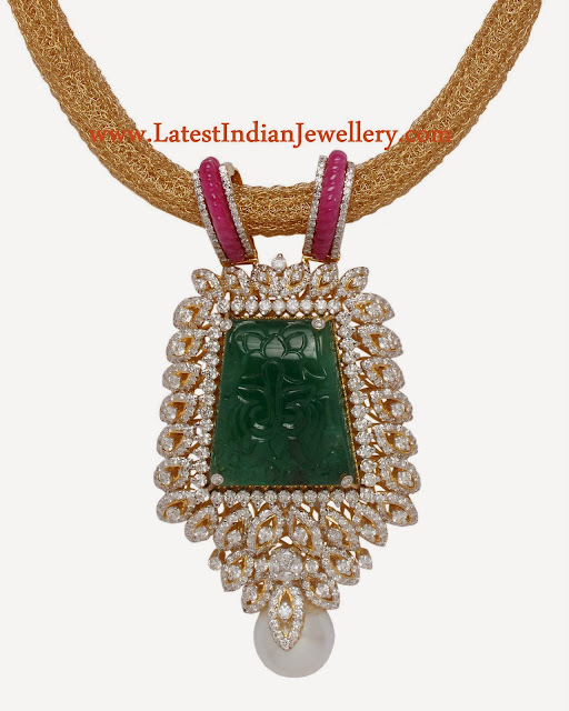 anmol jewellers diamond pendant
