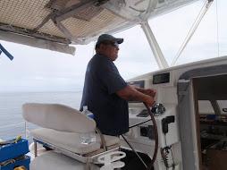 Captain Jack taking us diving