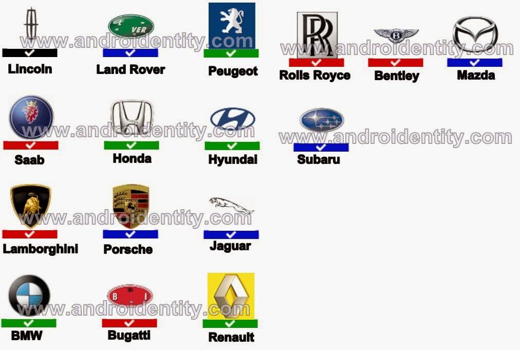 Car Insurance: Car Logos Quiz Answers