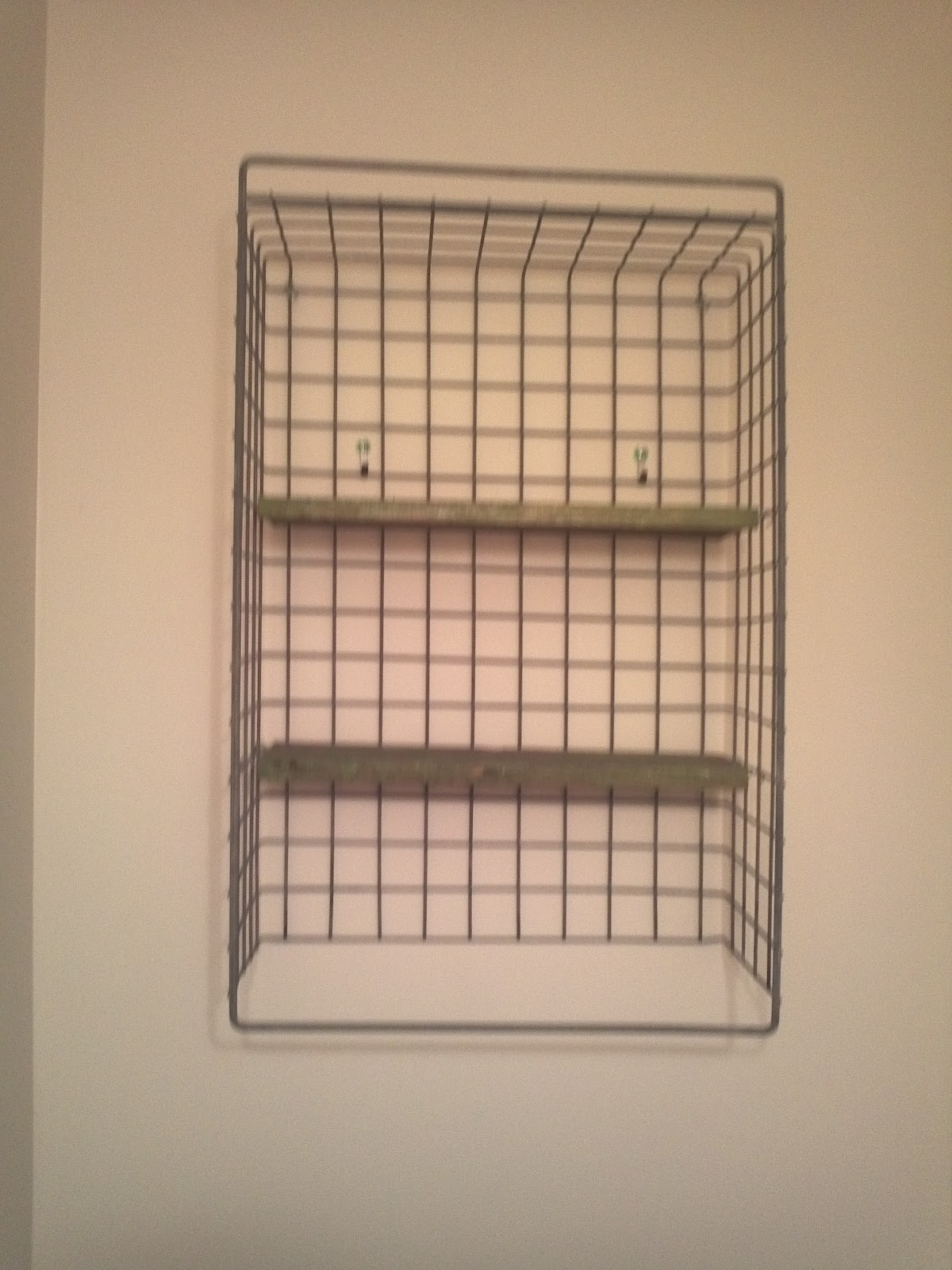 Wire Basket Turned Bathroom Shelf