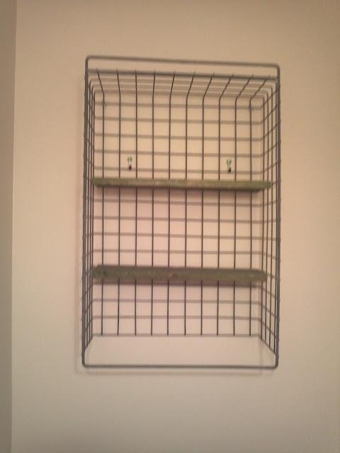 wire basket turned bathroom shelf femme to farmer