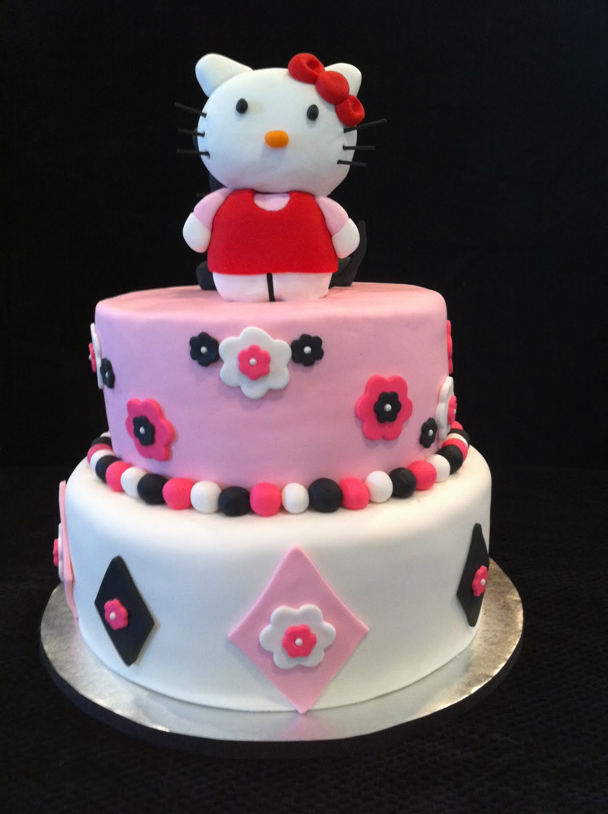 Tarynes Tasty Treats: Hello Kitty Tiered Birthday Cake