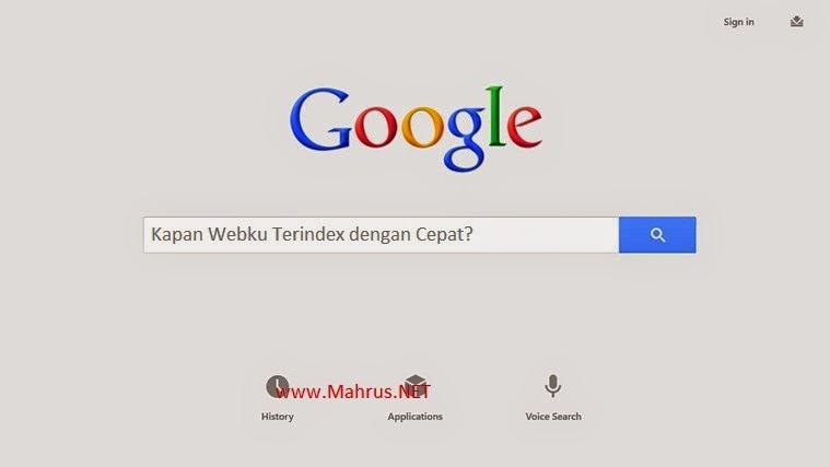 Cara Paling Jitu Agar Blog Cepat Terindex Google, Yahoo & Bing
