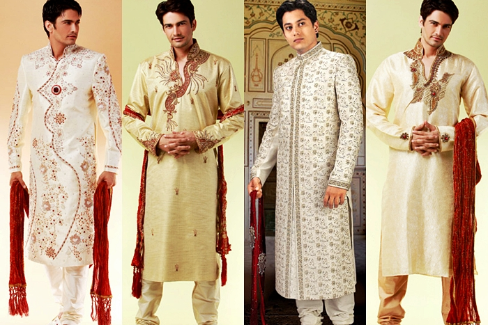 Various kinds of wedding dresses with new models indian for Indian wedding dresses men