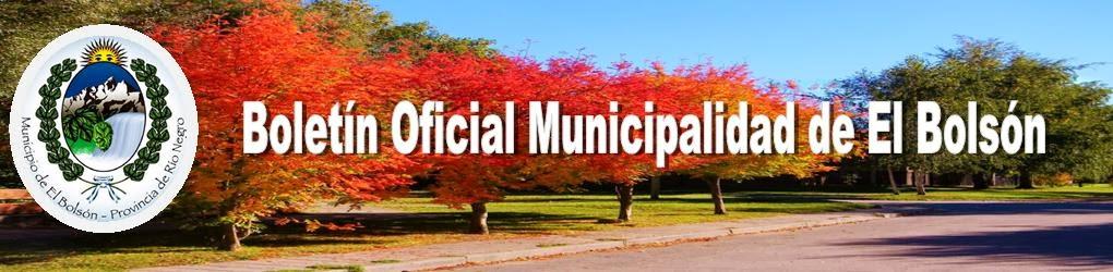 Boletín Oficial Municipalidad de El Bolsón