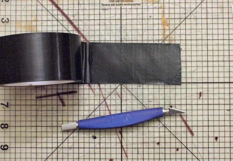 how to cut duct tape easily