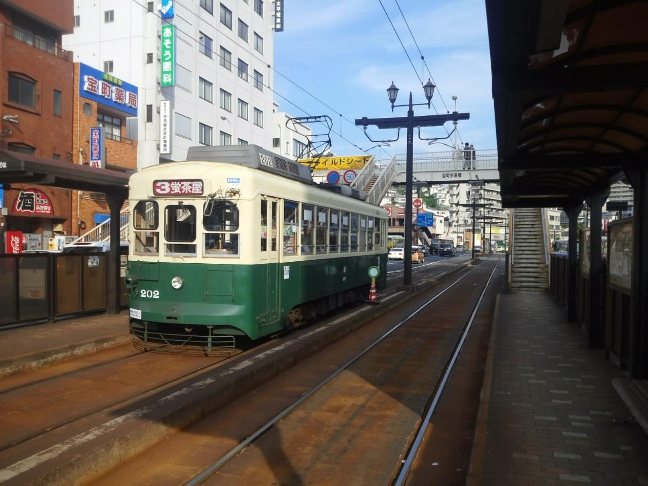 長崎電気軌道202号車