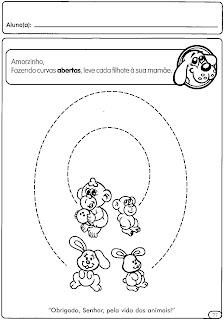 atividade tracejada para maternal