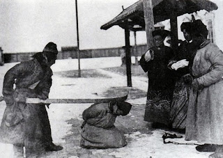 creepy scary weird wtf vintage photo image early chinese execution