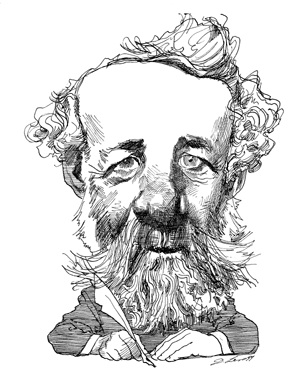 Jules Verne, le père de la science-fiction - caricature