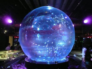 giant crystall ball aquarium fish tank