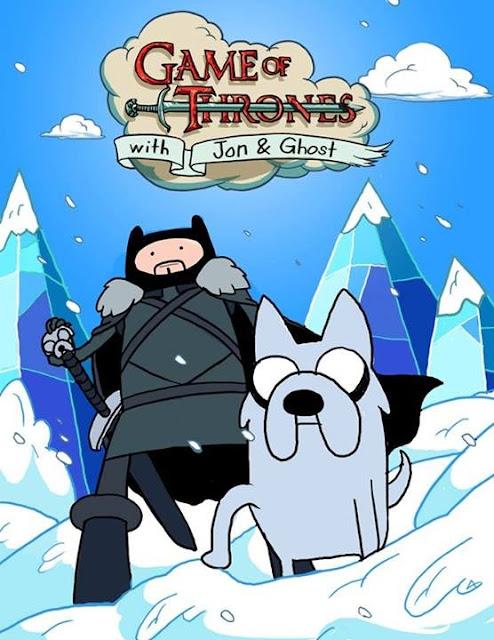 Hora de Aventuras Jon Nieve Fantasma - Juego de Tronos en los siete reinos