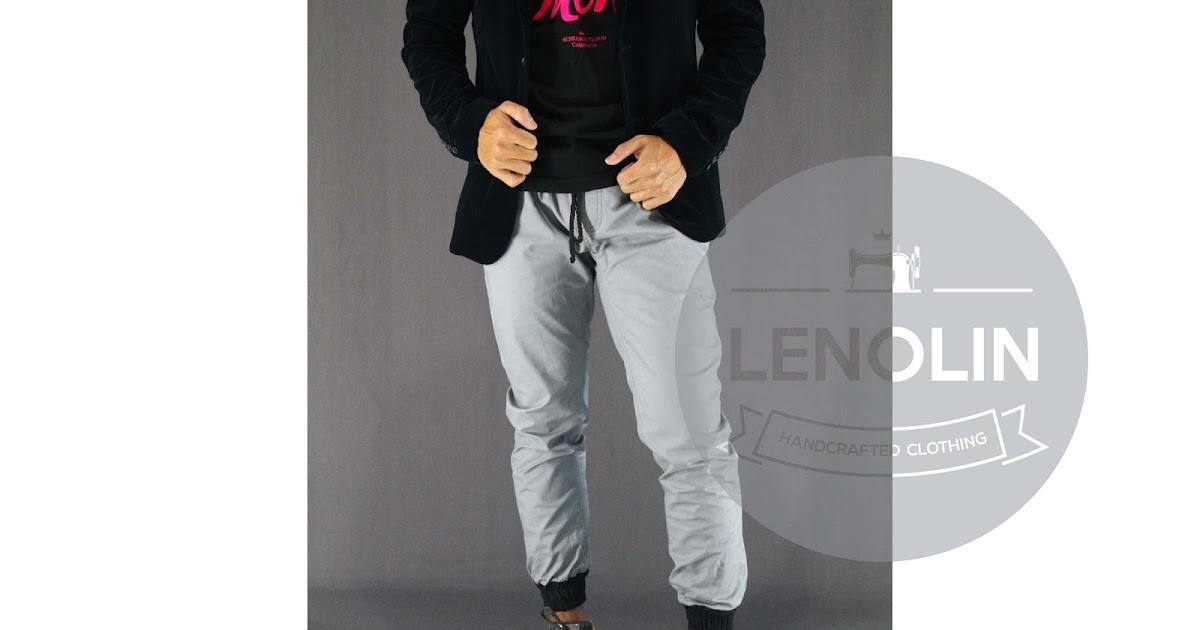 Celana Jogger Grey Combination - lenolinonshop