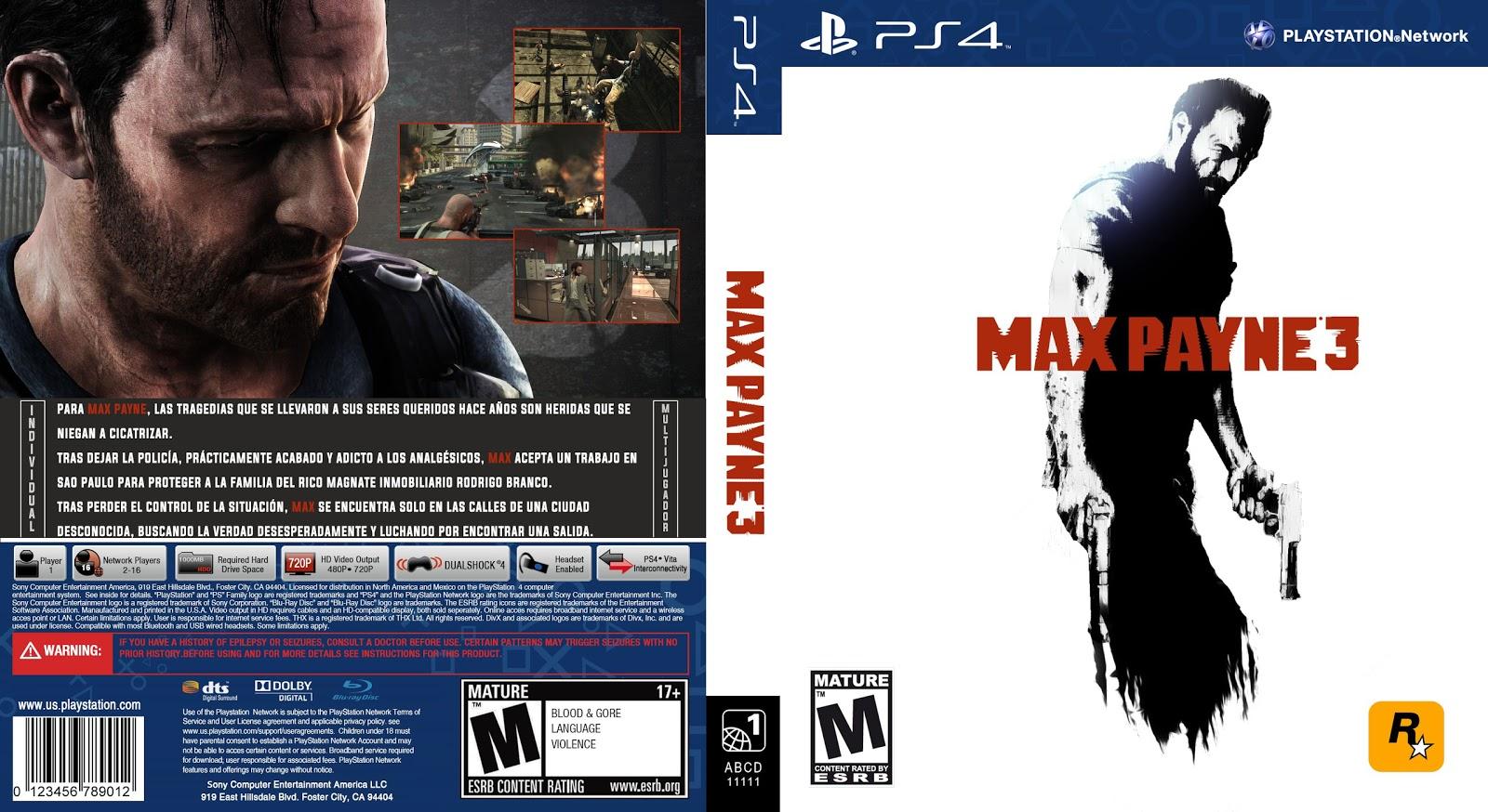 Capa Max Payne 3 PS4