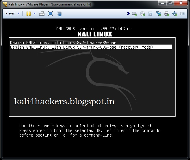 kali linux install root password