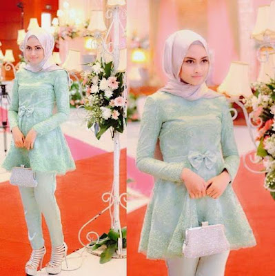 Baju atasan muslim model baby doll