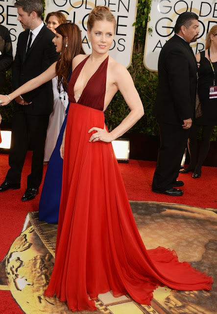Amy Adams in Valentino at the Golden Globes