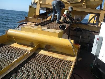 Bearing sea gold sluices