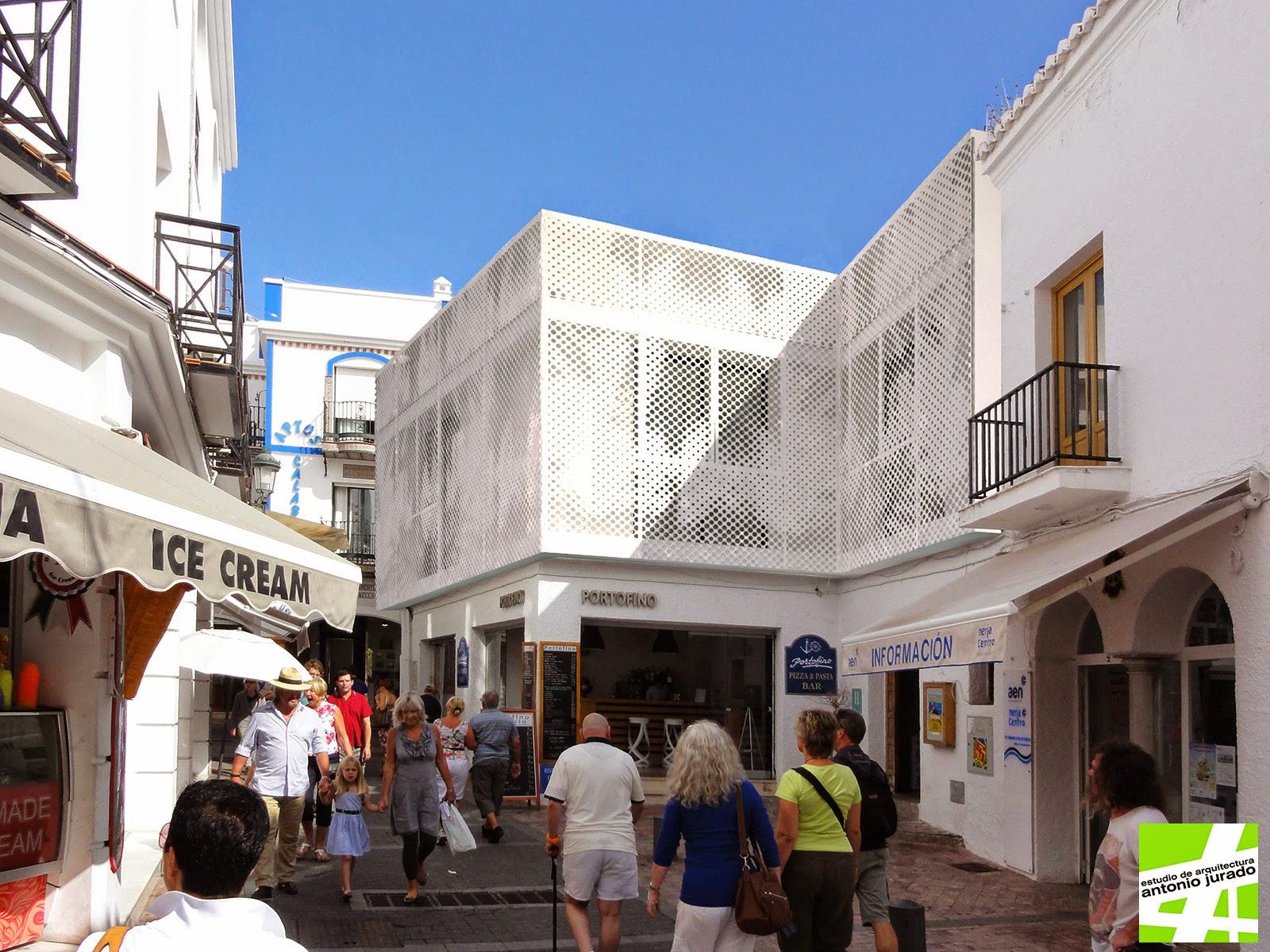 Casetas destinadas a mercado ambulante en el jard n del - Arquitectos malaga ...