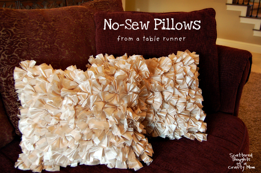 How To Make A Simple No Sew Pillow Scattered Thoughts Of A Crafty Delectable How To Cover A Pillow Without Sewing