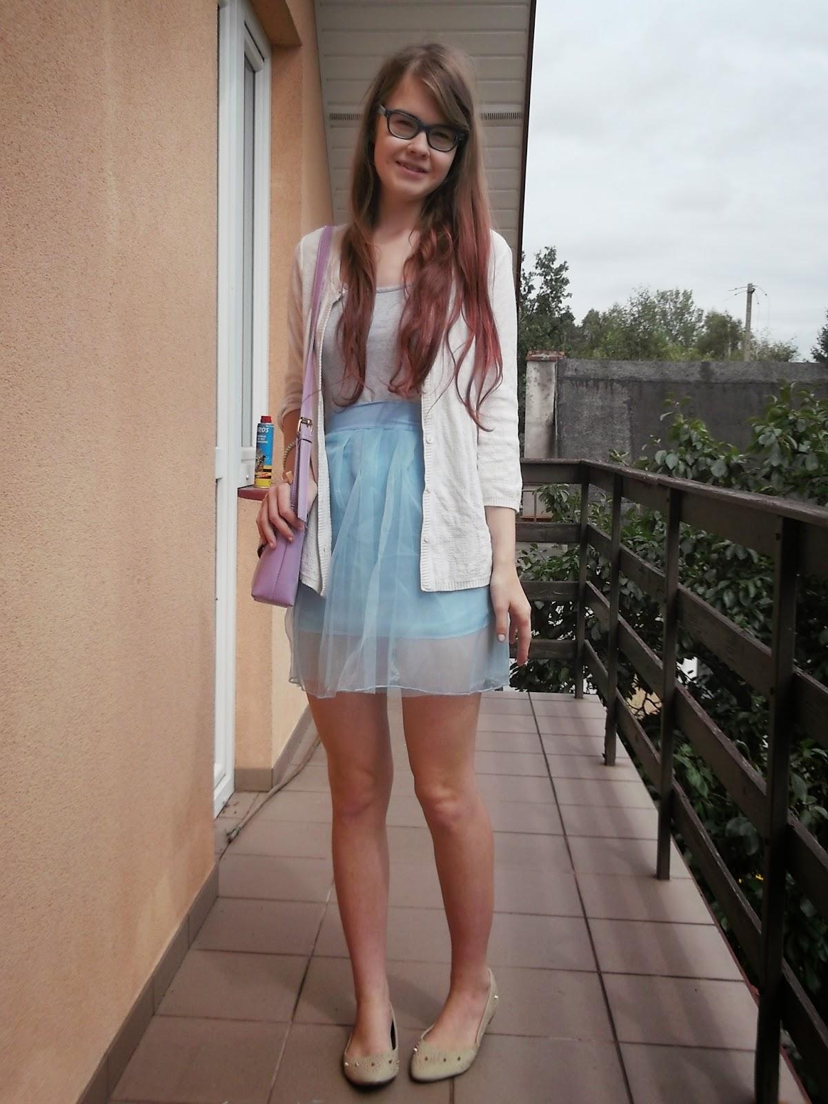 OOTD: Pastelowo  ze spódnicą tiulową Tidestore