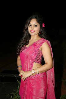 Actress Madhavi Latha Pictures in Pink Saree at Mosagallaku Mosagadu Audio Release Function  3.JPG