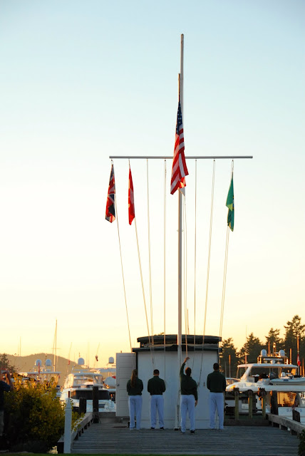 favorite things about Roche Harbor Flag Ceremony