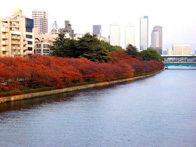 Okawa River Near Tenjinbashi Shoutengai Osaka Japan