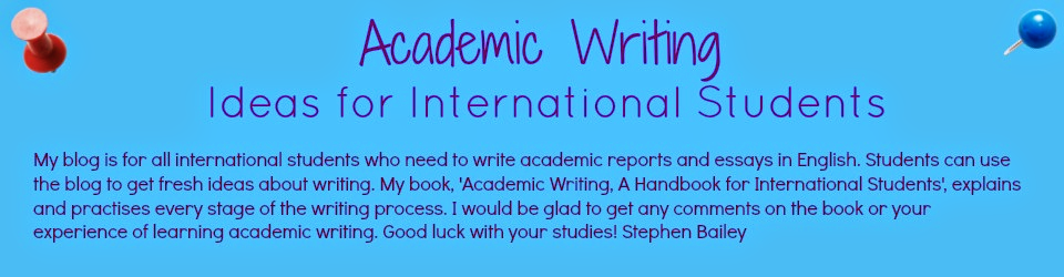 Academic Writing - Ideas for international students