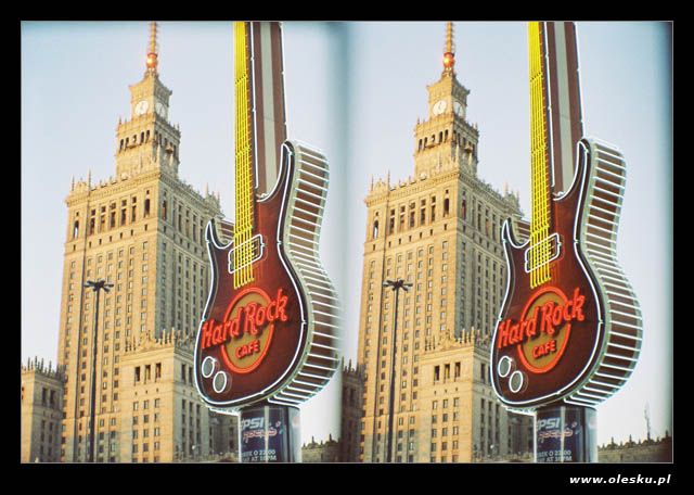 Warszawa w 3D: Hard Rock & Pałac Kultury i Nauki