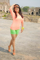 Actress Sharmila Mandre Latest Picture Gallery in Green Shorts 0005.JPG