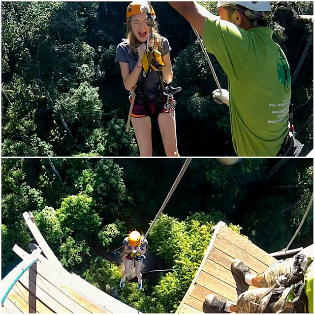 facing fears at jungle flight zip line thailand