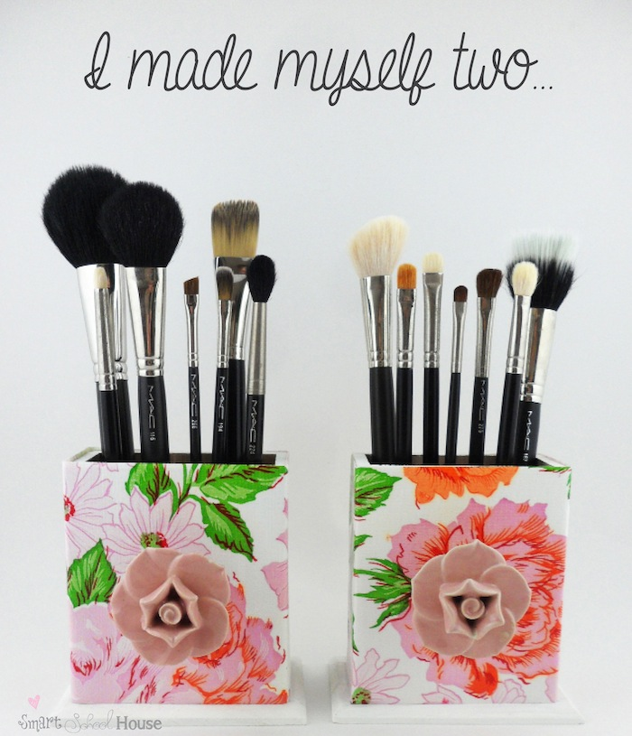 Makeup Brush Box DIY