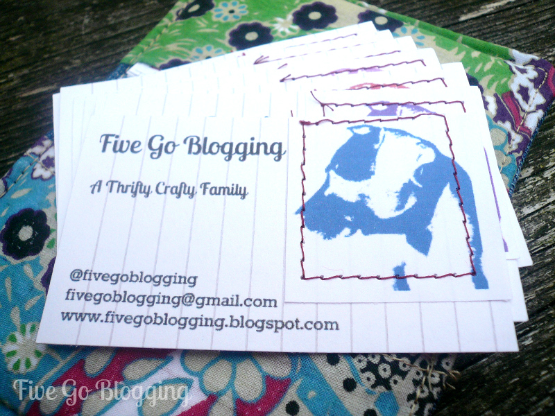 Five Go Blogging Homemade Business Cards For Pinaddicts