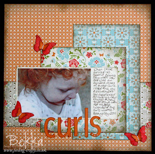 Curls, A Scrapbook Page made with Everyday Enchantment Papers from Stampin' Up!