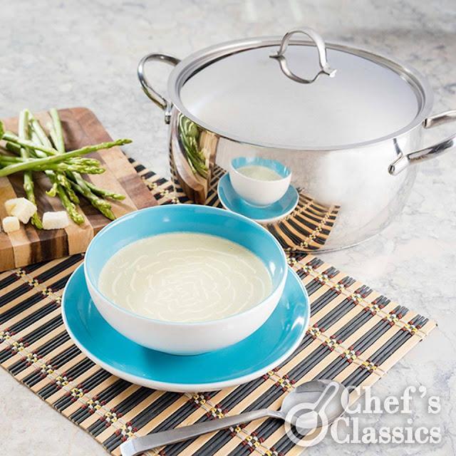 Cream of Asparagus and Broccoli Soup Recipe