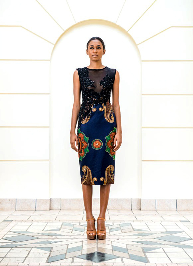 Taibo Bacar's F/W 2013 lookbook- Modele de pagne Africain