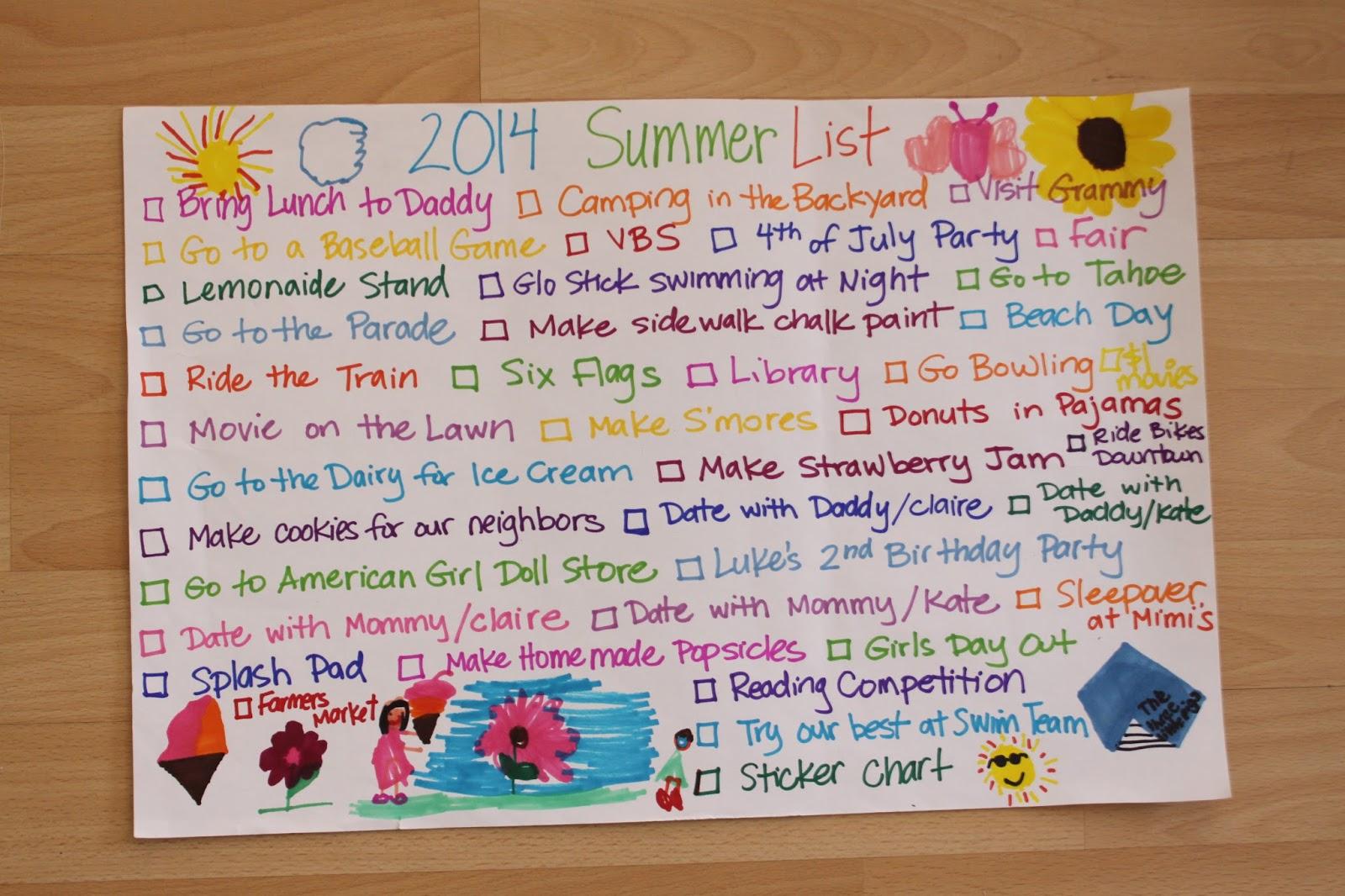The Larson Lingo Our 2014 Summer List