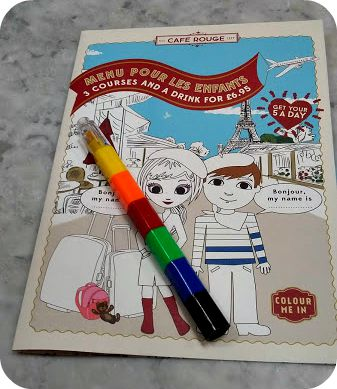 Eating Out With Kids: Café Rouge Trafford Centre Children's Menu