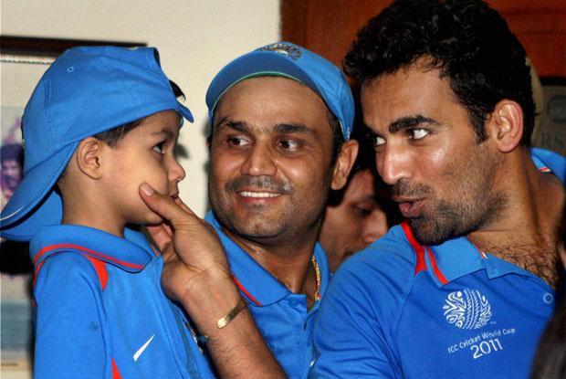 Photo of Virender Sehwag & his  Son  Aryavir Sehwag