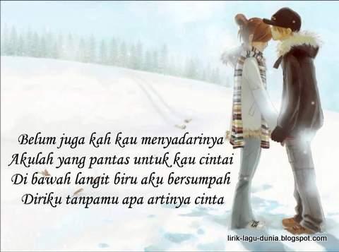 Lirik Lagu Apa Artinya Cinta - Melly Goeslaw feat Ari Lasso | Lirik ...