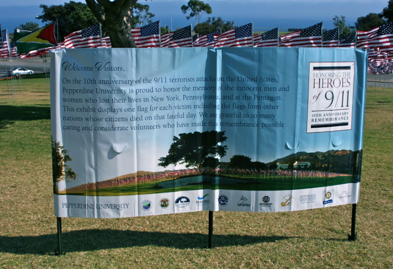 Pepperdine 9/11 remembrance sign