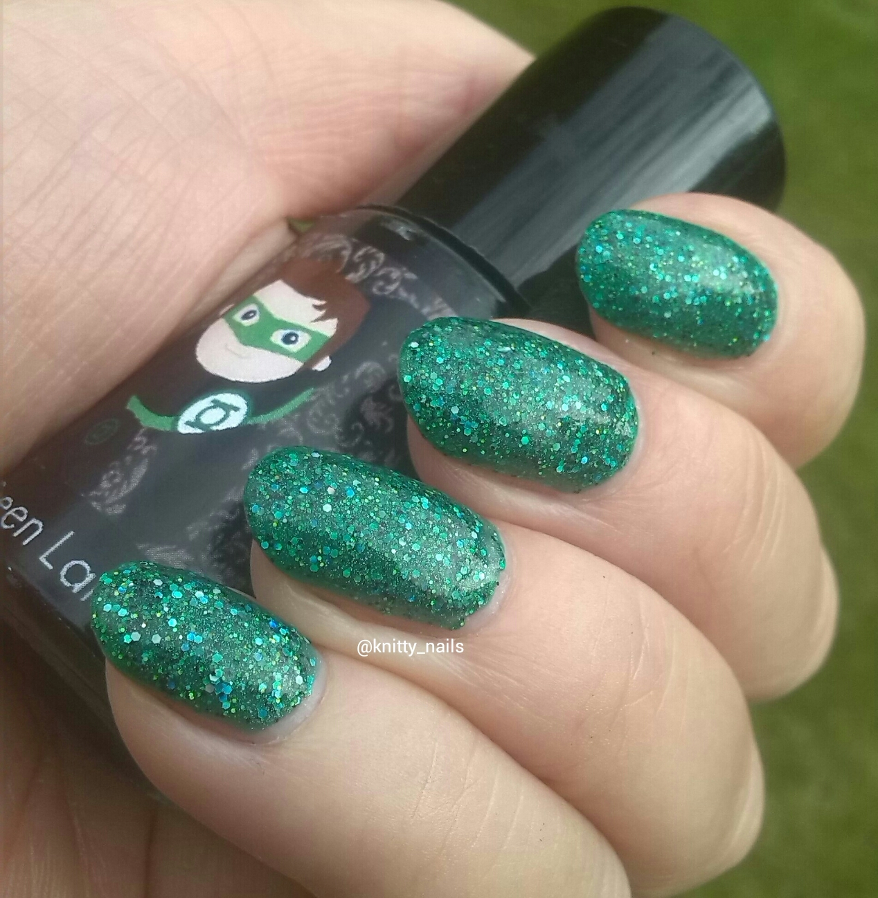 Knitty Nails: September Challenges - Green and Purple