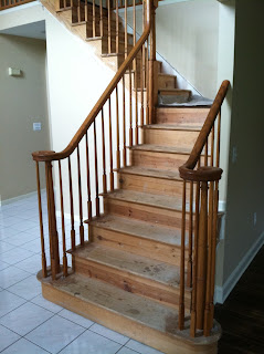 staircase makeover 1 - removing carpet from pine steps, new jersey, nj